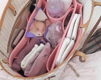 Bag Organizer, Bag Liner, Bag Organiser for Louis Vuitton Neverfull / Model: AMALIA30