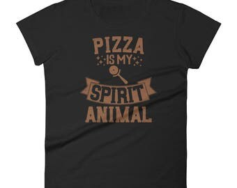 Pizza Is My Spirit Animal T-Shirt - Funny Pizza Shirt - Gift for Pizza Lovers