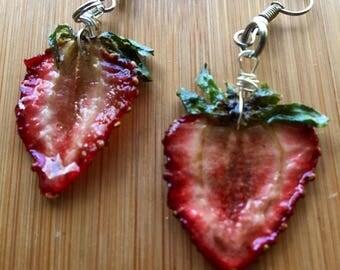 Slice of Strawberry Earrings