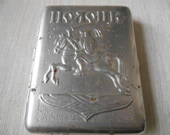 Vintage soviet cigarette case. Cigarette box USSR.