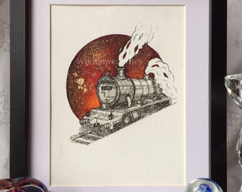 Hogwarts express Harry Potter artwork