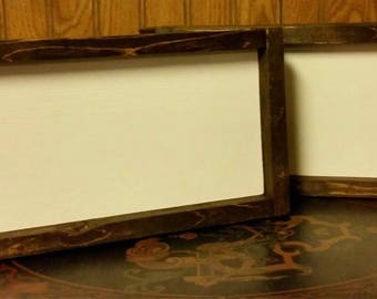 "Blank signs -framed -make your own paint yourself-blank wood diy signs- rustic signs custom signs 5"" by 12"""