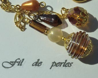 "Bookmark Golden jewel ""Garden""amber"""