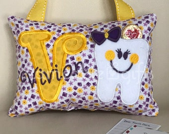 Tooth Fairy Pillows, Personalized Tooth Fairy Pillows, Tooth Pillows, Tooth Fairy Ideas, Tooth Fairy Gifts, Tooth Fairy Letters