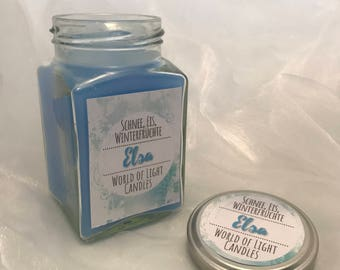 Elsa-Frozen-inspired candle-candle