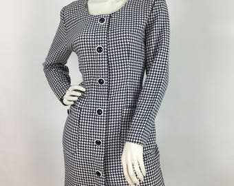 80s Algo dress/houndstooth plaid dress