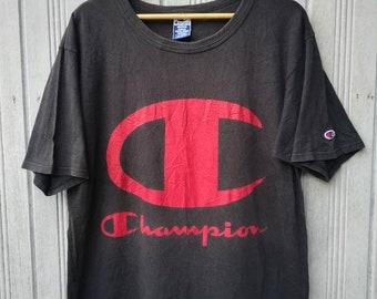 Vintage Champion Big Logo TShirt Size M