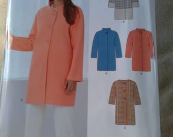 Newlook 6248 sewing pattern. New. Button coat jacket 4 variations. 10 - 22