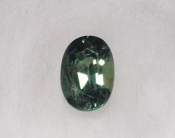 Ethiopian Green Sapphire 1.18ct Unheated Natural Loose Oval Cut Faceted Gemstone