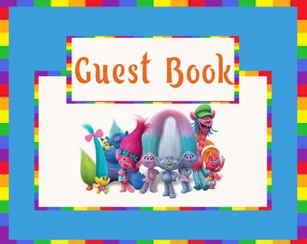 Trolls Guestbook Sign