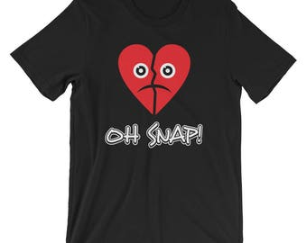 Heart Emojis Shirt Emoji Oh Snap Broken Heart Shirt Unisex Valentines Day Gift