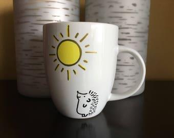 Good morning Sunshine Hedgehog mug