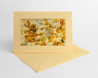 Greeting card with silk/greeting cards with silk: GOLDEN LIGHT