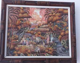 oil on canvas landscape Bali UBUD