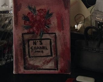 Chanel perfume painting