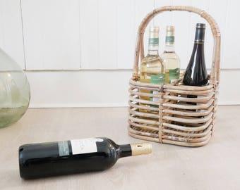 Rattan - Rattan wine rack bottle holder