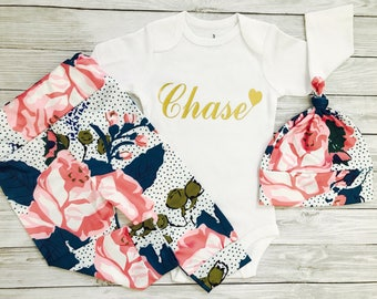 baby girl clothes, baby girl newborn girl, going home outfit, coming home baby girl, baby girl, newborn girl, personalized baby outfit