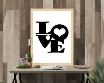 love printable art digital download