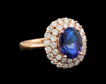 Rose Gold Tanzanite Ring