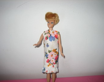 1960s Barbie Or Fashion Doll Dress - Vintage 1960s Barbie Clothing - Handmade Barbie Clothes From The 1960s