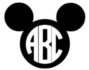 Custom Mickey Inspired Monogram Decal