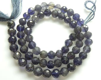Iolite  Faceted Bolls , Beads, Size- 6x6 MM, Natural Iolite  Faceted Bolls, Beads, AAA Quality, Bead, Natural Gemstone, 15 INCH