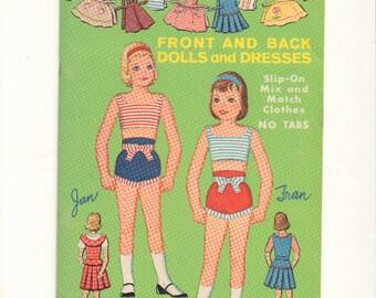 Vintage Sixties Front/Back Paper Dolls