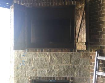 Rustic Fireplace shutters