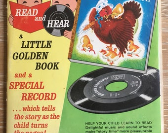 Read and Hear The Little Red Hen Little Golden Book and record illustrated by JP Miller 1957
