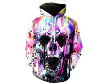 Skull Hoodie, Skull, Skull Hoodies, Skull Prints, Scalp Hoodie, Gothic, Skeleton, Skulls, Scalp, Hoodie, 3d Hoodie, 3d Hoodies - Style 10