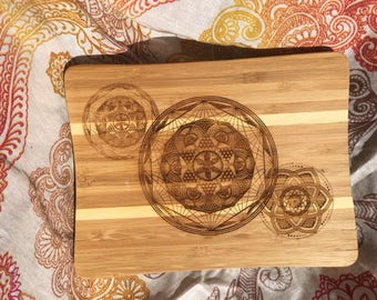 Triple Threat bamboo cutting board