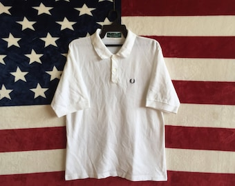 Vintage Fred Perry Polos Shirt England / Fred Perry polo / Fred Perry made in England / Punk Polo Tshirt / Fred Perry Large Size