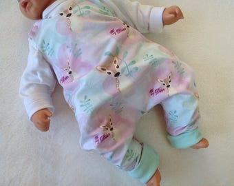 Baby organic romper jumpsuit Gr. 50 / 56