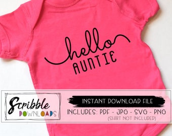 Blessed Aunt SVG Auntie SVG - Future aunt - pregnancy reveal Instant Download File - Iron On Transfer shirt - printable - shirt - PDF