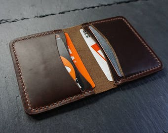 Horween Leather Wallet, Leather Card Wallet