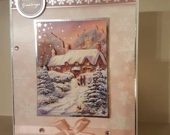 Snowy Scene Christmas Card