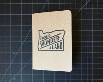 Pacific Wonderland hand-stamped Scout Books pocket notebook