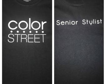 Color Street Stylist Shirt With Logo and Rank