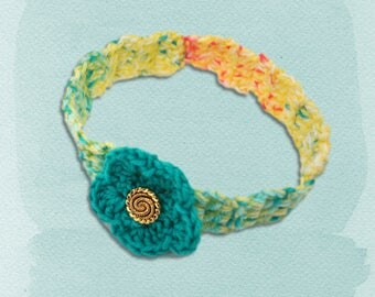 Headband, Flower Headband, Hairband for Her, Crochet Headband, Hair Accessary, Crochet Hair Accessary, Ladies Headband, Girls Headband