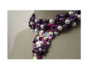 Purple Bling Choker Necklace