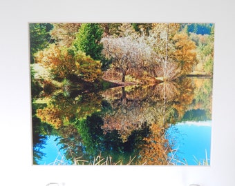 Autumn Reflections Matted 8x10