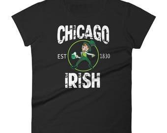 St.Patrick's Day Chicago Irish drinkingWomen's short sleeve t-shirt