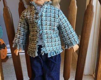 "3-piece suit for 18"" dolls such as American girl"