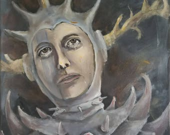 Joan d'Arc - Oil Portrait on Canvas