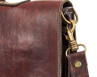 Zagora Leather Laptop Bag Satchel