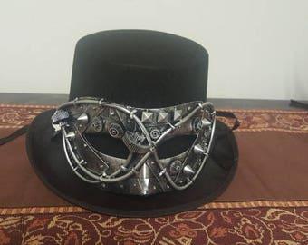 Handmade Steampunk Mask Hat