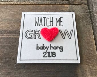 Watch Me Grow Baby Shower Tag (Set of 10)