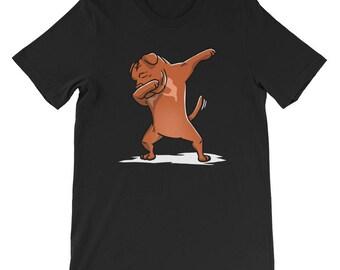 Cute Dabbing Dogue De Bordeaux T-Shirt Funny Dog Gift