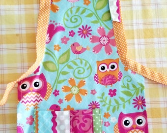 Child's Owl Apron