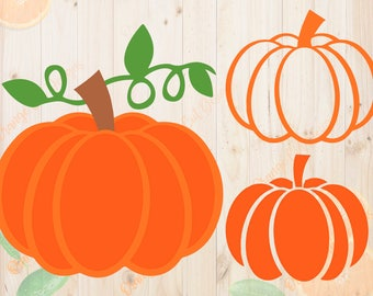 Pumpkin svg, Pumpkin Cutfiles: Svg, Dxf, Eps, Png. Halloween pumpkin vector for Cricut, Silhouette cameo, Pumpkin clipart, layered pumpkin